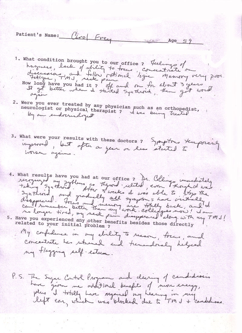 Fatigue Patient Testimonial
